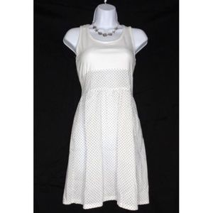 Dresses & Skirts - WHITE WITH BLACK POLKA DOT SUNDRESS L/XL COTTON